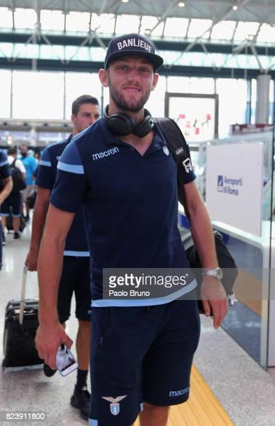 Stefan De Vrij of SS Lazio departs for Austria on July 28 2017 in Rome Italy