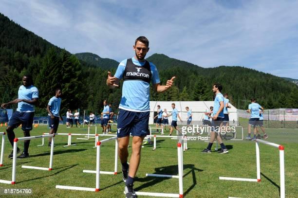 Stefan De Vrij of SS Lazio during the SS Lazio PreSeason Training Camp on July 19 2017 in Pieve di Cadore Italy