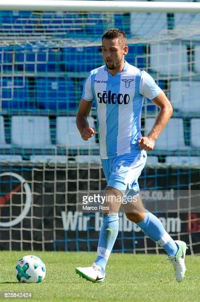 Stefan De Vrij of SS Lazio in action during the preseason friendly match between SS Lazio Vs Bayer Leverkusen at GoldbergStadion on July 30 2017 in...