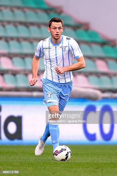 Stefan De Vrij of SS Lazio in action during the Serie A match between US Sassuolo Calcio and SS Lazio on March 1 2015 in Reggio nell'Emilia Italy