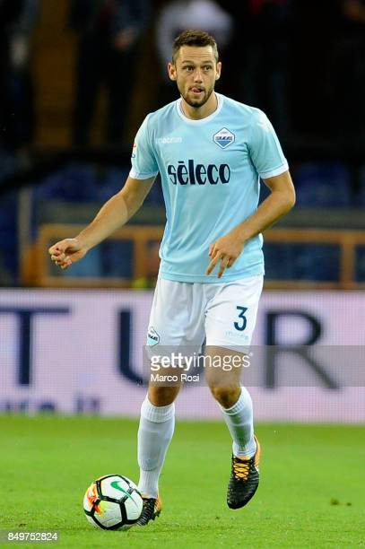Stefan De Vrij of SS Lazio in action during the Serie A match between Genoa CFC and SS Lazio at Stadio Luigi Ferraris on September 17 2017 in Genoa...