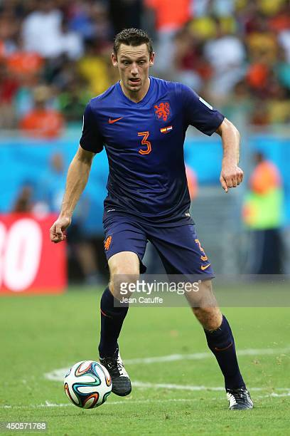 Stefan De Vrij of the Netherlands in action during the 2014 FIFA World Cup Brazil Group B match between Spain and Netherlands at Arena Fonte Nova on...