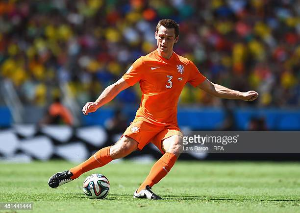 Stefan de Vrij of the Netherlands in action during the 2014 FIFA World Cup Brazil Round of 16 match between Netherlands and Mexico at Estadio...