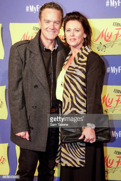 Stefan Dennis and Gail Easdale arrive ahead of opening night of My Fair Lady at Regent Theatre on May 16 2017 in Melbourne Australia