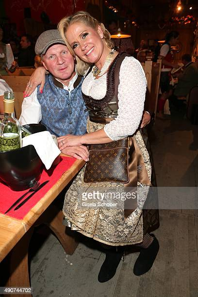 Stefan Effenberg and his wife Claudia Effenberg during the Oktoberfest 2015 at Weinzelt / Theresienwiese on September 30 2015 in Munich Germany