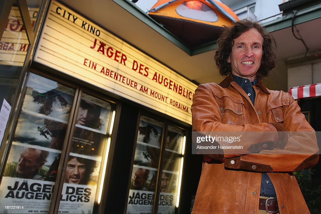 Stefan Glowacz attends the 'Jaeger des Augenblicks' World premiere at City Kino on April 22, 2013 in Munich, Germany. The adventure movie with climbing star Stefan Glowacz starts on April 25, 2013 in cinemas across Germany.