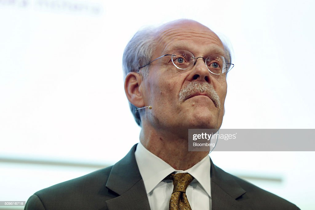 Stefan Ingves, governor of Sweden's central bank, also known as the Riksbank, pauses while speaking during a news conference to announce interest rates at the bank's headquarters in Stockholm, Sweden, on Thursday, Feb. 11, 2016. Sweden's central bank lowered its key interest rate even further below zero and said its prepared to use its full toolbox of measures as it battles to revive inflation and keep the krona from appreciating. Photographer: Johan Jeppsson/Bloomberg via Getty Images