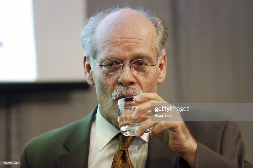 Stefan Ingves, governor of Sweden's central bank, also known as the Riksbank, pauses whilst speaking during a news conference to announce interest rates at the bank's headquarters in Stockholm, Sweden, on Thursday, Feb. 11, 2016. Sweden's central bank lowered its key interest rate even further below zero and said its prepared to use its full toolbox of measures as it battles to revive inflation and keep the krona from appreciating. Photographer: Johan Jeppsson/Bloomberg via Getty Images