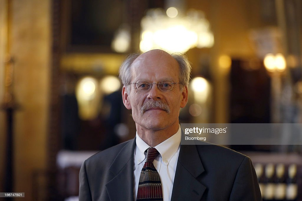 Stefan Ingves, governor of Sweden's central bank, poses for a photograph during an event hosted by the Official Monetary and Financial Institutions Forum (OMFIF) in London, U.K., on Tuesday, Nov. 20, 2012. Sweden's economy is stagnating as a recession in the euro area saps export demand, prompting companies such as Ericsson AB to cut jobs. Photographer: Simon Dawson/Bloomberg via Getty Images