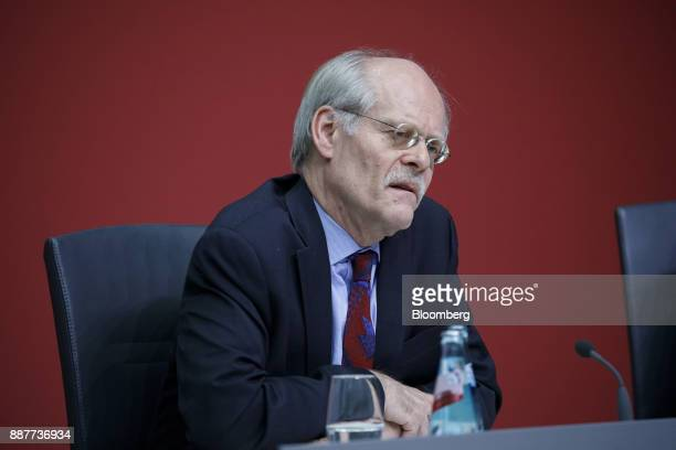 Stefan Ingves governor of the Sveriges Riksbank and chairman of the Basel Committee speaks during a Basel III capital rules news conference at the...