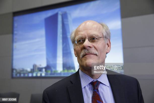 Stefan Ingves governor of the Sveriges Riksbank and chairman of the Basel Committee pauses during an interview following a Basel III capital rules...