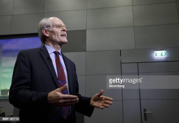 Stefan Ingves governor of the Sveriges Riksbank and chairman of the Basel Committee speaks during an interview following a Basel III capital rules...