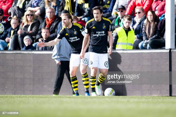 Stefan Ishizaki of AIK during the Allsvenskan match between Jonkopings Sodra IF and AIK at Stadsparksvallen on April 22 2017 in Jonkoping Sweden