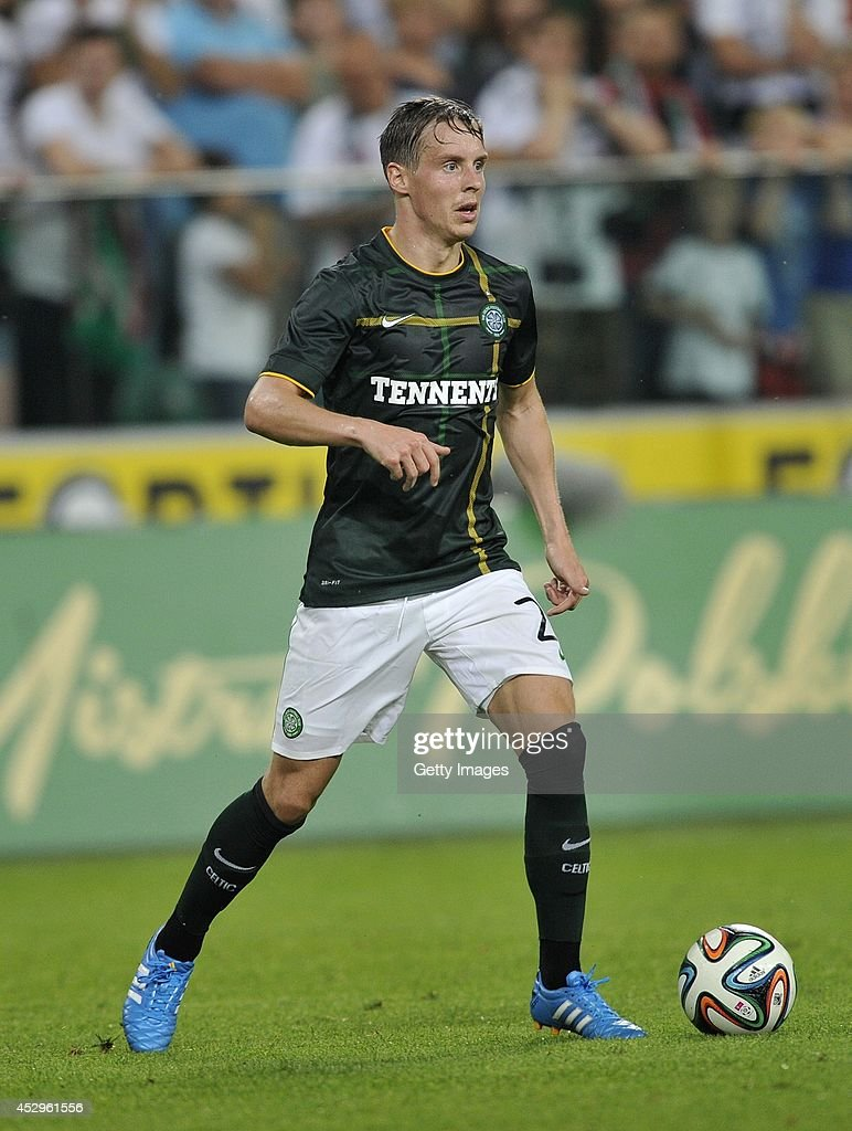 Stefan Johansen of Celtic during the third qualifying round UEFA Champions League match between Legia and Celtic at Pepsi Arena on July 30, 2014 in Warsaw, Poland.