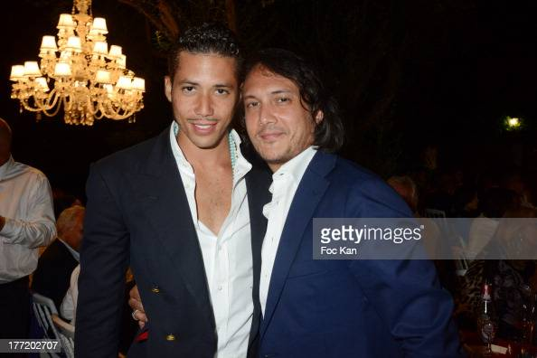Stefan John Charles D'Angieri and David Kane attend the Massimo Gargia's Birthday Dinner at Moulins de Ramatuelle on August 21 2013 in Saint Tropez...