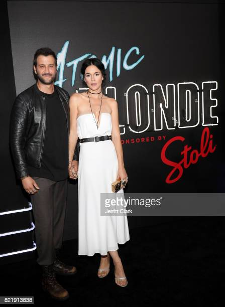 Stefan Kapicic and Ivana Horvat attend the American premiere of Atomic Blonde starring Oscar awardwinning actress Charlize Theron at The Theatre At...