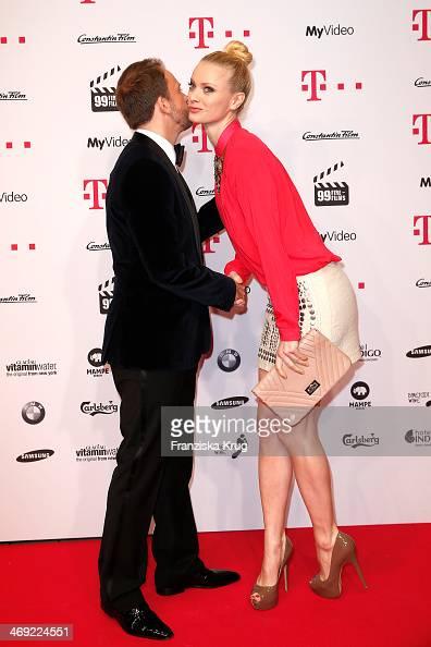 Stefan Kiwit and Franziska Knuppe attend the 99FireFilmsAward 2014 at Admiralspalast on February 13 2014 in Berlin Germany