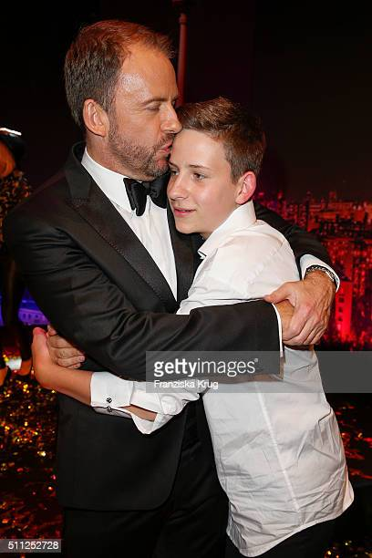 Stefan Kiwit and his son Justus Kiwit attend the 99FireFilmAward 2016 at Admiralspalast on February 18 2016 in Berlin Germany