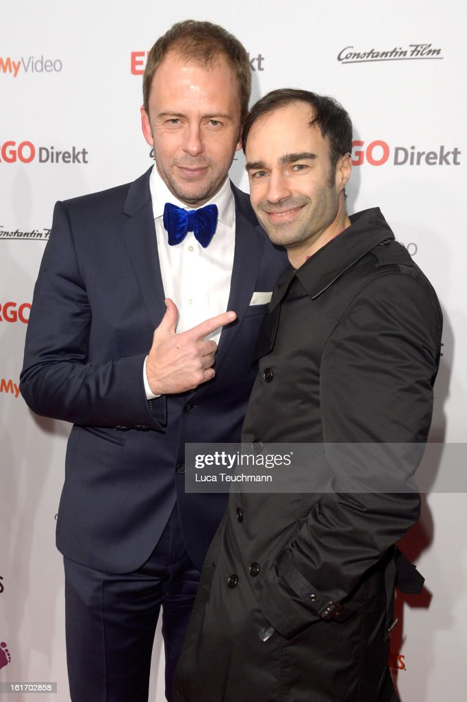 Stefan Kiwit and Ivan Strano attend the 5th '99Fire-Films-Award' - Red Carpet Arrivals at Admiralspalast on February 14, 2013 in Berlin, Germany.