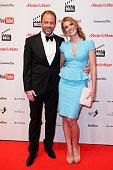 Stefan Kiwit and Kerstin Linnartz attend the 99FireFilmAward 2016 at Admiralspalast on February 18 2016 in Berlin Germany