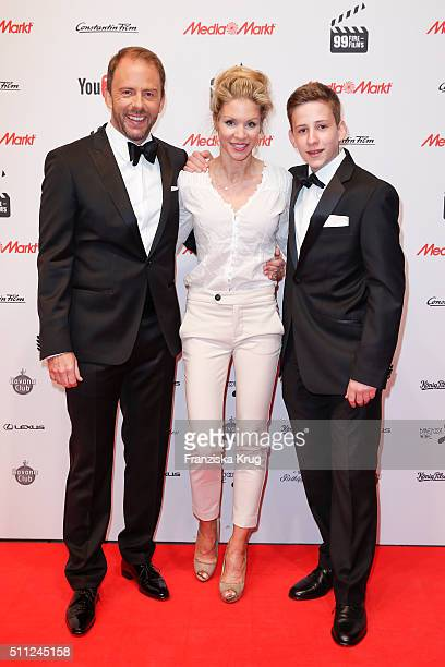 Stefan Kiwit NinaFriederike Gnaedig and Justus Kiwit attend the 99FireFilmAward 2016 at Admiralspalast on February 18 2016 in Berlin Germany