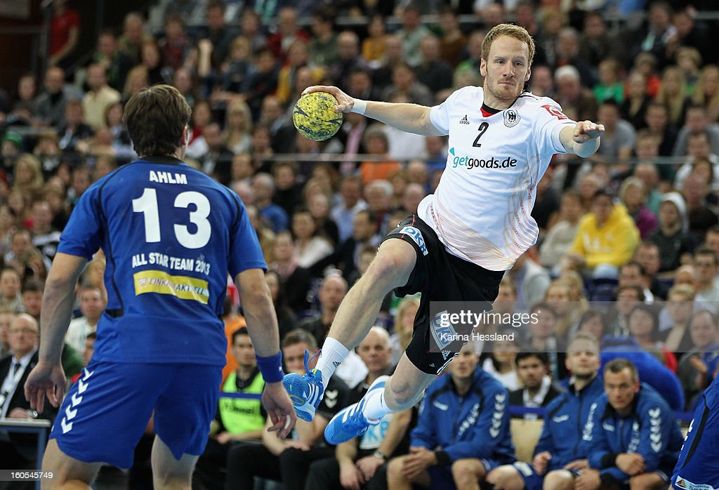 Stefan Kneer of Germany on the ball during the match between Germany and Bundesliga All Stars on February 2, 2013 in Leipzig, Germany.