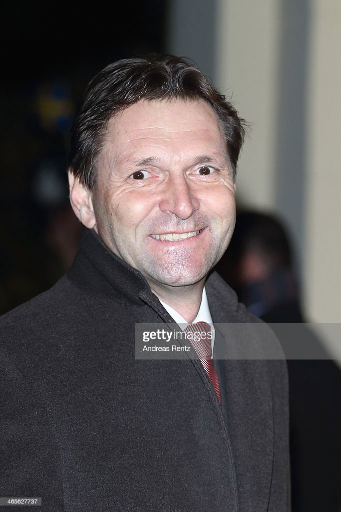 Stefan Koetz of Ericsson Germany arrives for a dinner with Crown Princess Victoria of Sweden at Castle of Eller on January 28, 2014 in Dusseldorf, Germany.