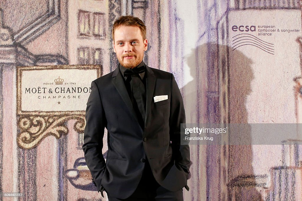 Stefan Konarske attends the Moet & Chandon Grand Scores 2016 at Hotel De Rome on February 6, 2016 in Berlin, Germany.