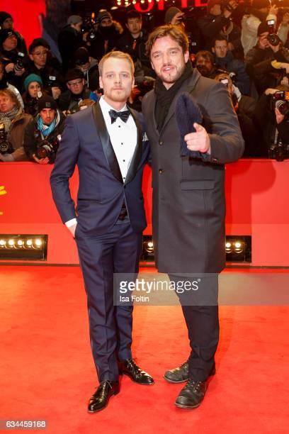 Stefan Konarske wearing Brunello Cucinelli and Ronald Zehrfeld attend the 'Django' premiere during the 67th Berlinale International Film Festival...