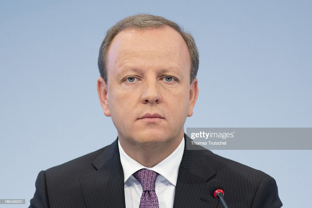 Stefan Krause, Chief Financial Officer of Deutsche Bank, appears during the annual press conference at Deutsche Bank headquarters on January 31, 2013 in Frankfurt am Main, Germany. Deutsche Bank announced a fourth quarter, pre-tax loss of EUR 2.6 billion, largely due to restructuring and litigation costs..