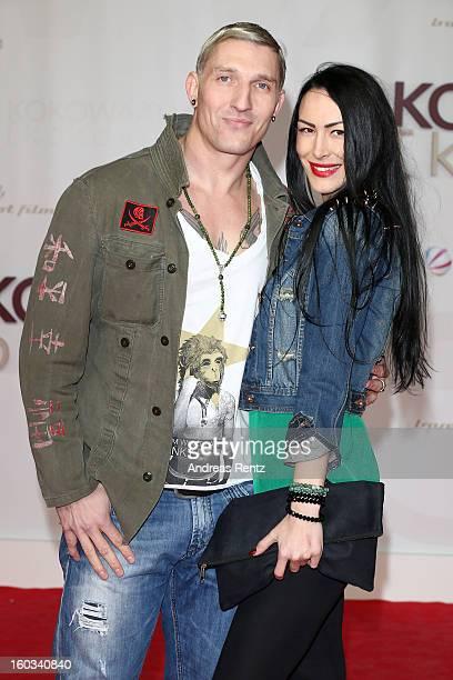 Stefan Kretzschmar and Danica Ffriend attend 'Kokowaeaeh 2' Germany Premiere at Cinestar Potsdamer Platz on January 29 2013 in Berlin Germany