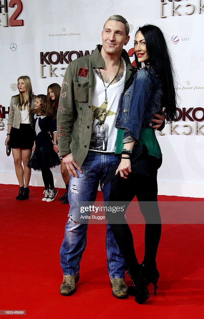 Stefan Kretzschmar and Danica Ffriend attend 'Kokowaeaeh 2' Germany Premiere at Cinestar Potsdamer Platz on January 29, 2013 in Berlin, Germany.