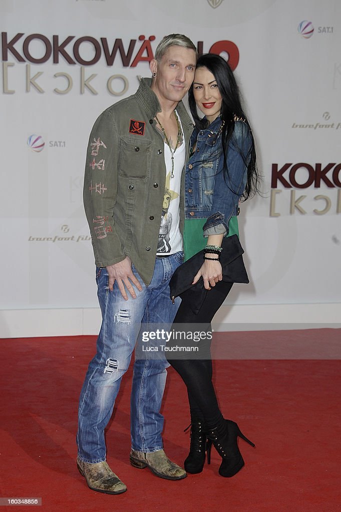 Stefan Kretzschmar and Danica Ffriend attend'Kokowaeaeh 2' Germany Premiere at Cinestar Potsdamer Platz on January 29, 2013 in Berlin, Germany.