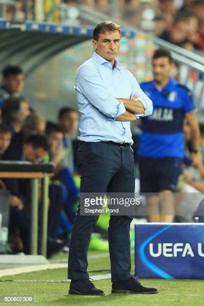 Stefan Kuntz coach of Germany looks on during the 2017 UEFA European Under21 Championship Group C match between Italy and Germany at Stadion Cracovia...