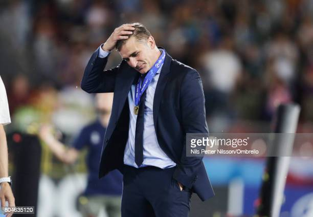 Stefan Kuntz head coach of Germany after the the UEFA U21 Final match between Germany and Spain at Krakow Stadium on June 30 2017 in Krakow Poland