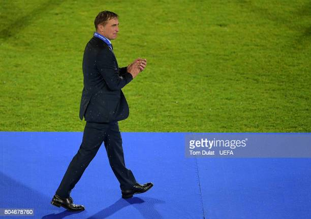 Stefan Kuntz head coach of Germany celebrates after the victory during the UEFA European Under21 Championship Final match between Germany and Spain...