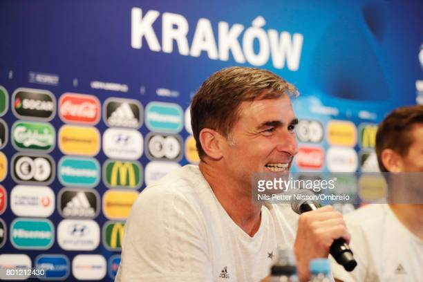 Stefan Kuntz head coach of Germany during the German U21 national team training session at Official Training Ground Wielczka on June 26 2017 in...