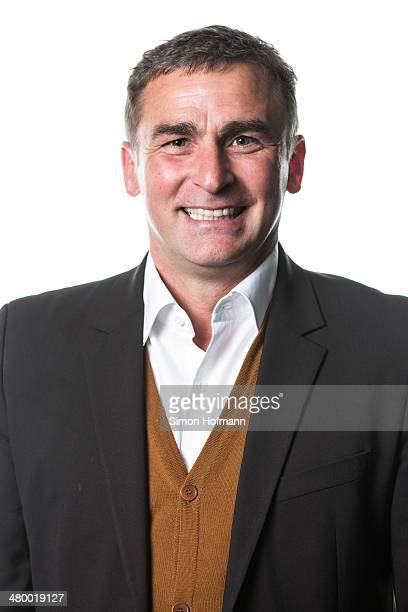 Stefan Kuntz poses prior to a DFB Executive Board Meeting at DFB Headquarters on March 21 2014 in Frankfurt am Main Germany
