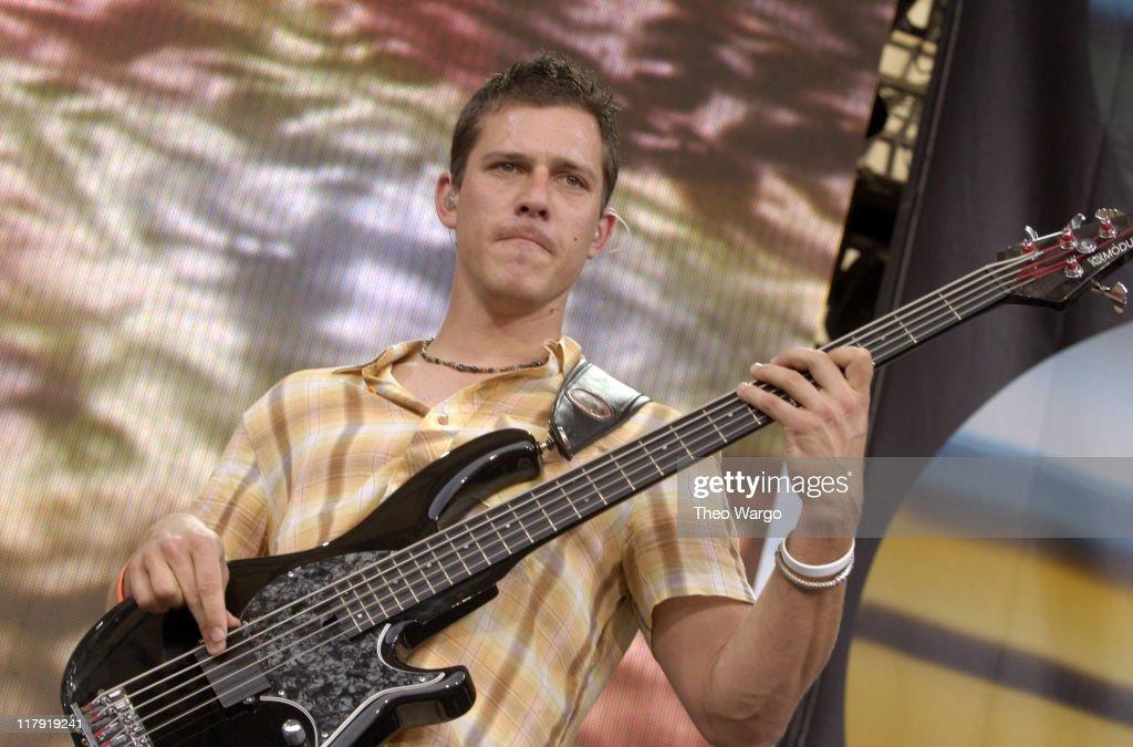 Stefan Lessard of Dave Matthews Band during LIVE 8 - Philadelphia - Show at Philadelphia Museum of Art in Philadelphia, Pennsylvania, United States.