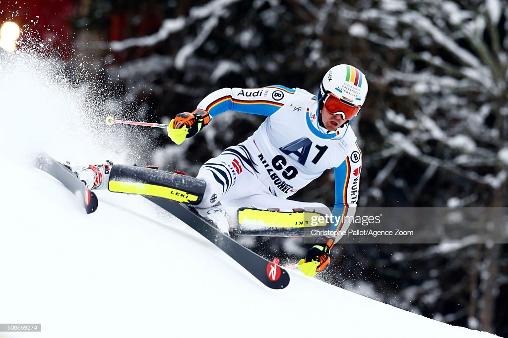 <a gi-track='captionPersonalityLinkClicked' href=/galleries/search?phrase=Stefan+Luitz&family=editorial&specificpeople=7286362 ng-click='$event.stopPropagation()'>Stefan Luitz</a> of Germany competes during the Audi FIS Alpine Ski World Cup Men's Slalom on January 24, 2016 in Kitzbuehel, Austria.