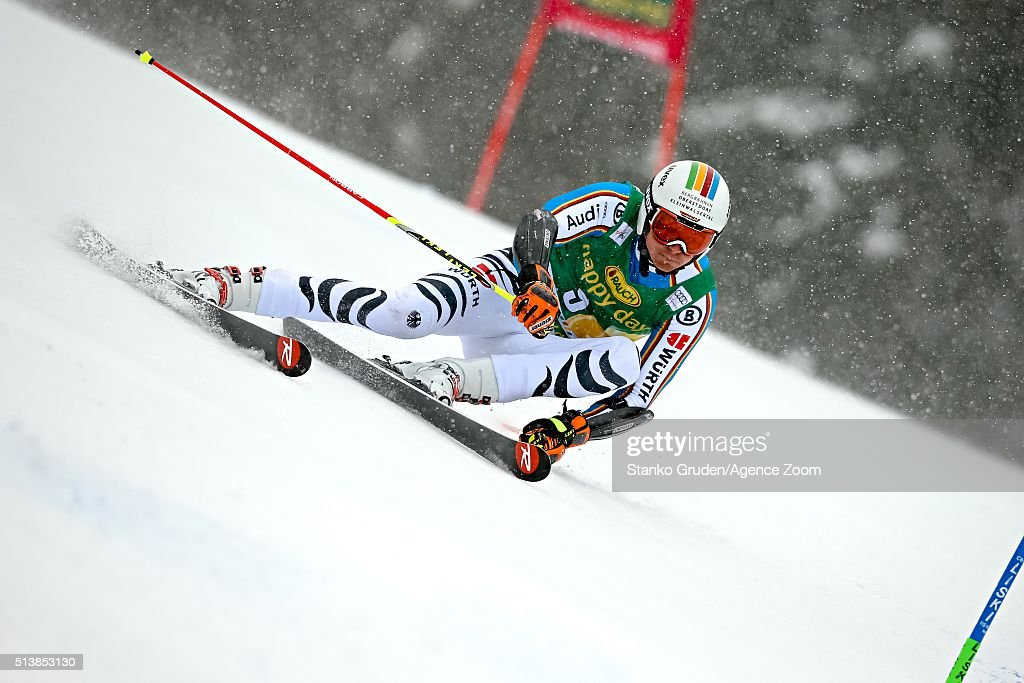 <a gi-track='captionPersonalityLinkClicked' href=/galleries/search?phrase=Stefan+Luitz&family=editorial&specificpeople=7286362 ng-click='$event.stopPropagation()'>Stefan Luitz</a> of Germany competes during the Audi FIS Alpine Ski World Cup Men's Giant Slalom on March 05, 2016 in Kranjska Gora, Slovenia.