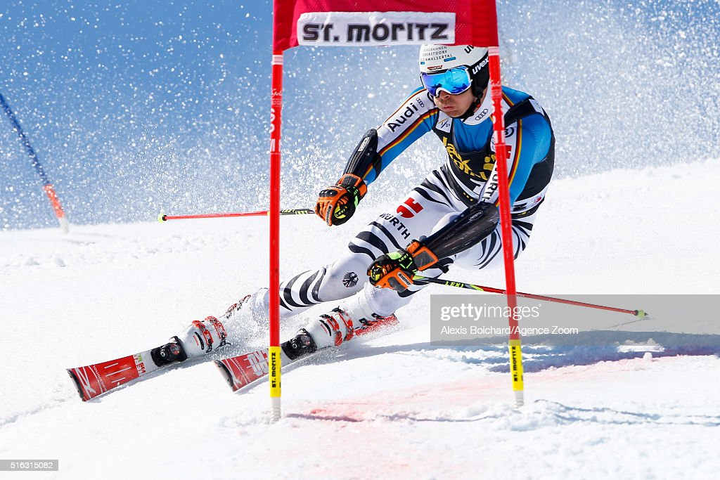 <a gi-track='captionPersonalityLinkClicked' href=/galleries/search?phrase=Stefan+Luitz&family=editorial&specificpeople=7286362 ng-click='$event.stopPropagation()'>Stefan Luitz</a> of Germany competes during the Audi FIS Alpine Ski World Cup Finals Men's and Women's Team Event on March 18, 2016 in St. Moritz, Switzerland.