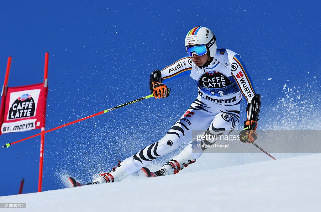<a gi-track='captionPersonalityLinkClicked' href=/galleries/search?phrase=Stefan+Luitz&family=editorial&specificpeople=7286362 ng-click='$event.stopPropagation()'>Stefan Luitz</a> of Germany competes during the Audi FIS Alpine Ski World Cup Finals Men's Giant Slalom on March 19, 2016 in St Moritz, Switzerland.
