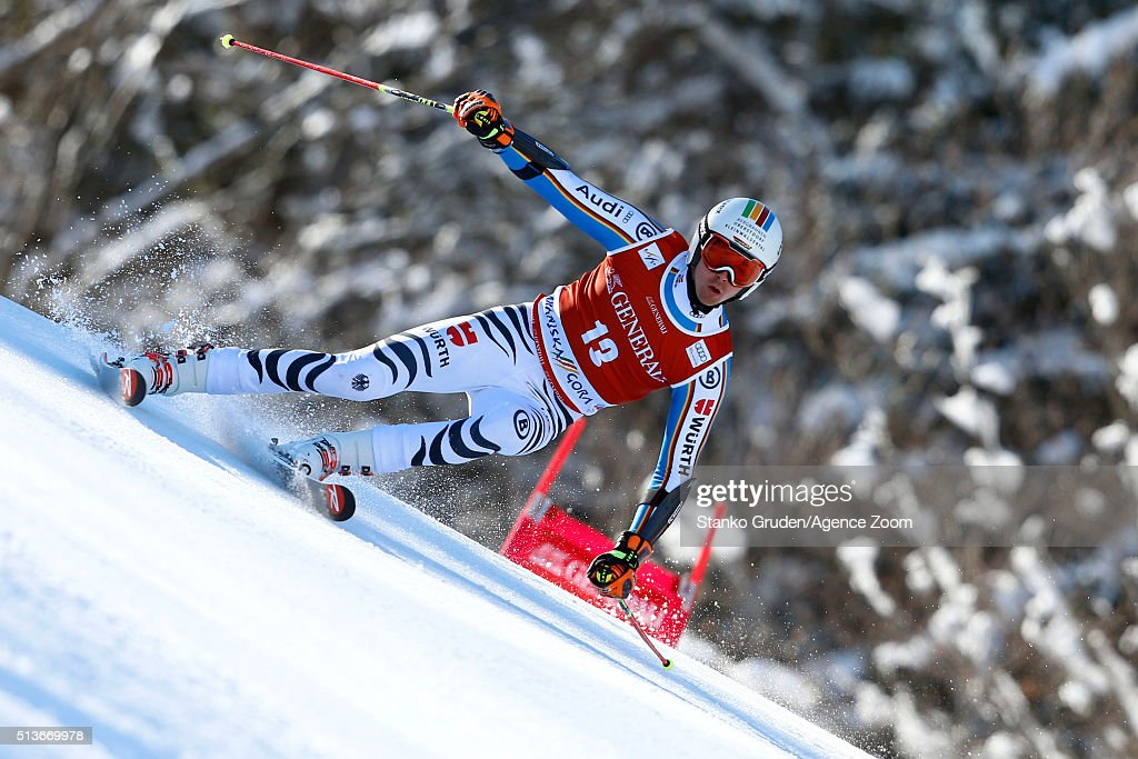 <a gi-track='captionPersonalityLinkClicked' href=/galleries/search?phrase=Stefan+Luitz&family=editorial&specificpeople=7286362 ng-click='$event.stopPropagation()'>Stefan Luitz</a> of Germany during the Audi FIS Alpine Ski World Cup Men's Giant Slalom on March 04, 2016 in Kranjska Gora, Slovenia.