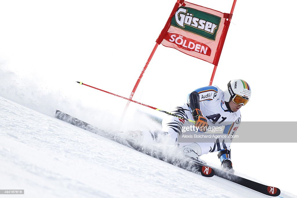 <a gi-track='captionPersonalityLinkClicked' href=/galleries/search?phrase=Stefan+Luitz&family=editorial&specificpeople=7286362 ng-click='$event.stopPropagation()'>Stefan Luitz</a> of Germany in action during the Audi FIS Alpine Ski World Cup Men's Giant Slalom on October 25, 2015 in Soelden, Austria.