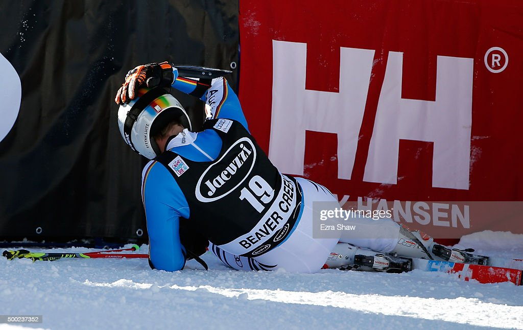 <a gi-track='captionPersonalityLinkClicked' href=/galleries/search?phrase=Stefan+Luitz&family=editorial&specificpeople=7286362 ng-click='$event.stopPropagation()'>Stefan Luitz</a> of Germany reacts after the second run of the Audi FIS Ski World Cup Giant Slalom race on the Birds of Prey on December 6, 2015 in Beaver Creek, Colorado. Luitz was leading the race before making a mistake near the end of the course.
