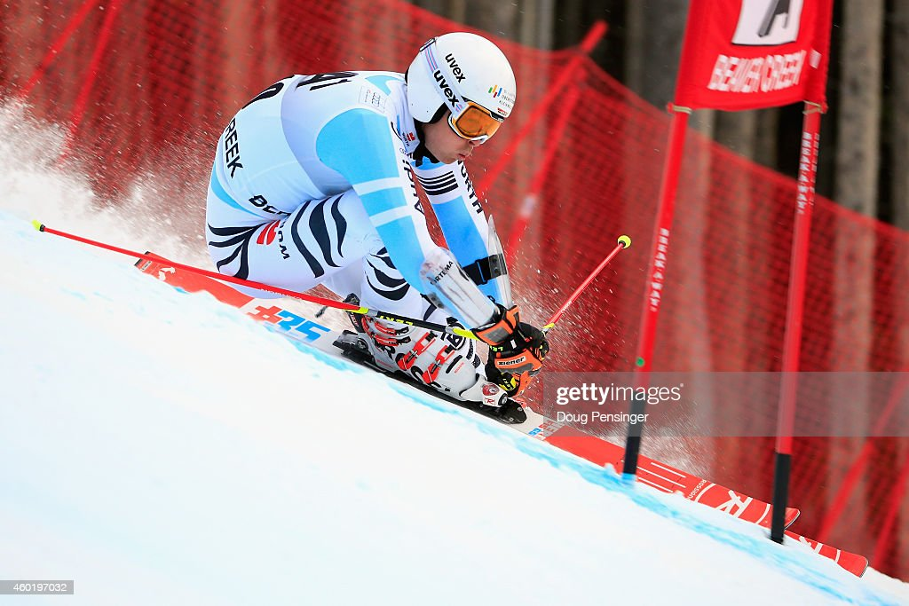 <a gi-track='captionPersonalityLinkClicked' href=/galleries/search?phrase=Stefan+Luitz&family=editorial&specificpeople=7286362 ng-click='$event.stopPropagation()'>Stefan Luitz</a> of Germany skis the first run of the Audi FIS World Cup Men's Giant Slalom Race on December 7, 2014 in Beaver Creek, Colorado.
