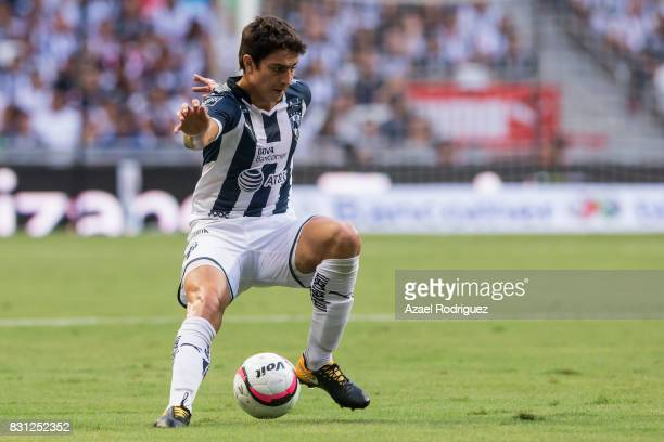 Stefan Medina of Monterrey controls the ball during the 4th round match between Monterrey and Chivas as part of the Torneo Apertura 2017 Liga MX at...