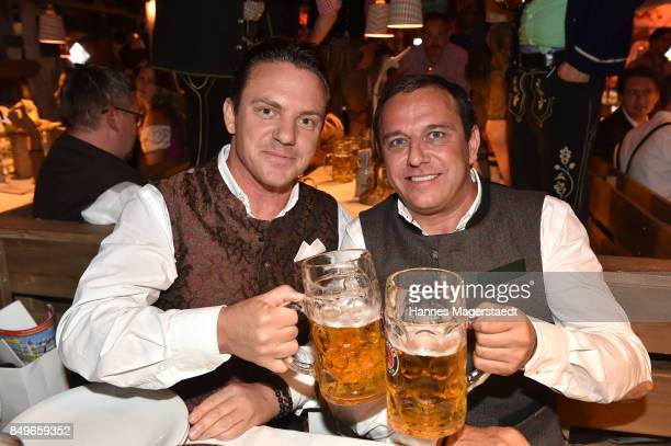 Stefan Mross and Christian Abt during the 'Alpenherz' as part of the Oktoberfest 2017 at Kaefer Tent on September 19 2017 in Munich Germany