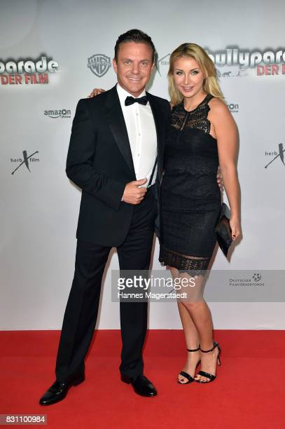 Stefan Mross and his girlfriend AnnaCarina Woitschack during 'Bullyparade Der Film' premiere at Mathaeser Filmpalast on August 13 2017 in Munich...